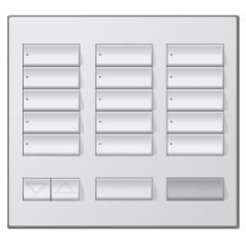 Placa decorativa botonera 15 botones metales con grabado