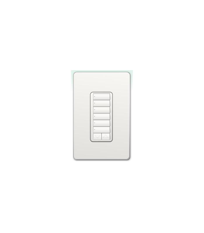 Botonera inalámbrica Lutron HomeWorks estilo diseñador 6 botones con R/L