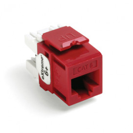 Jack RJ45 CAT6 LUTRON color Rojo