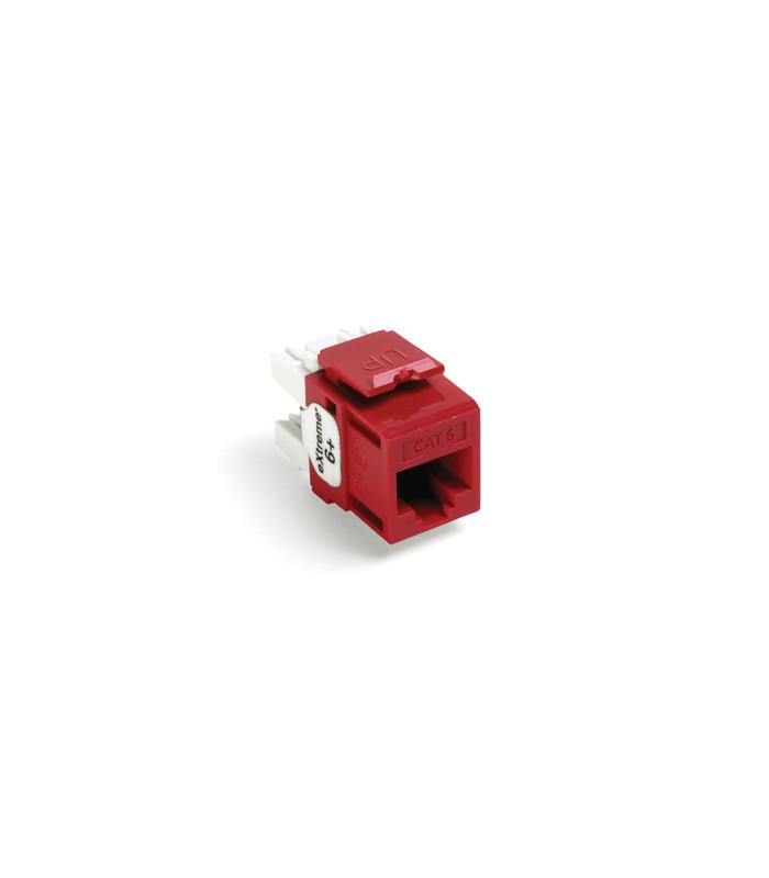 Jack RJ45 CAT6 LUTRON color Rojo