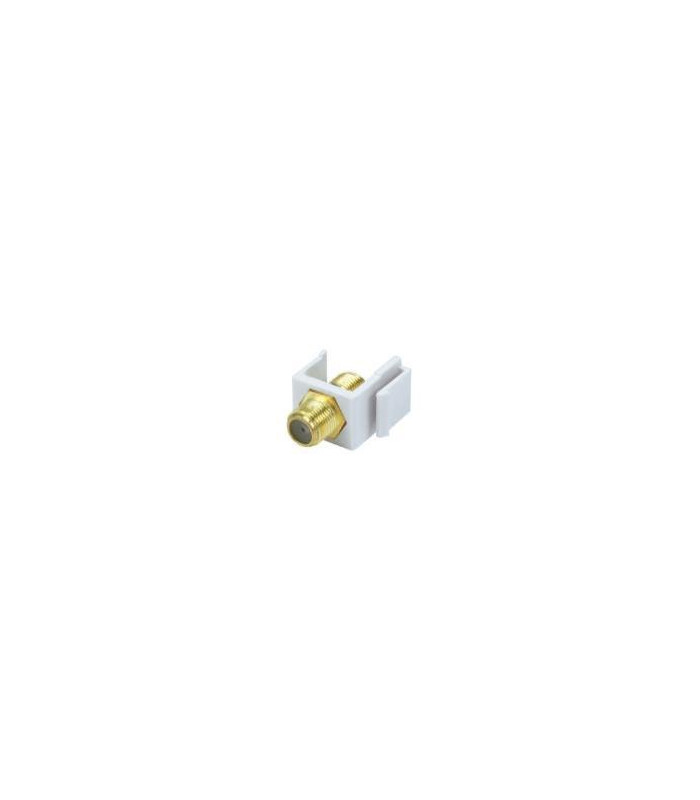 Keystone Jack Tipo F Modular (Blanco)