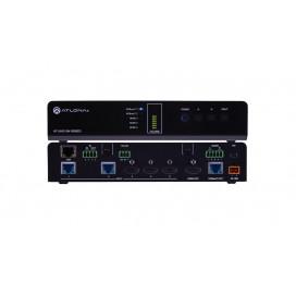 Switcher HDMI 4K/UHD con 2 entradas HDBaseT y salidas HDMI en espejo/HDBaseT