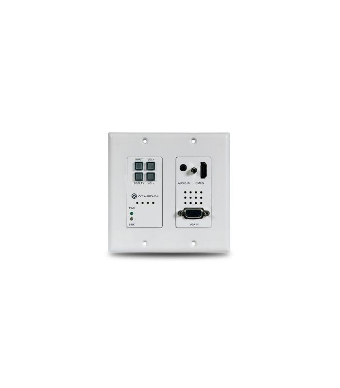 Switcher placa de pared 2 entradas para fuentes HDMI y VGA