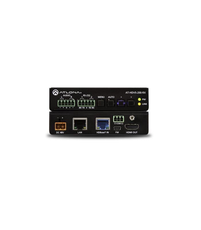 Escalador HDBaseT con HDMI y salidas analogas de audio
