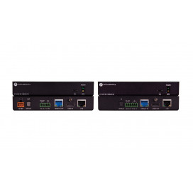 Kit TX/RX 4K/UHD HDBaseT con ethernet PoE y Audio Optico
