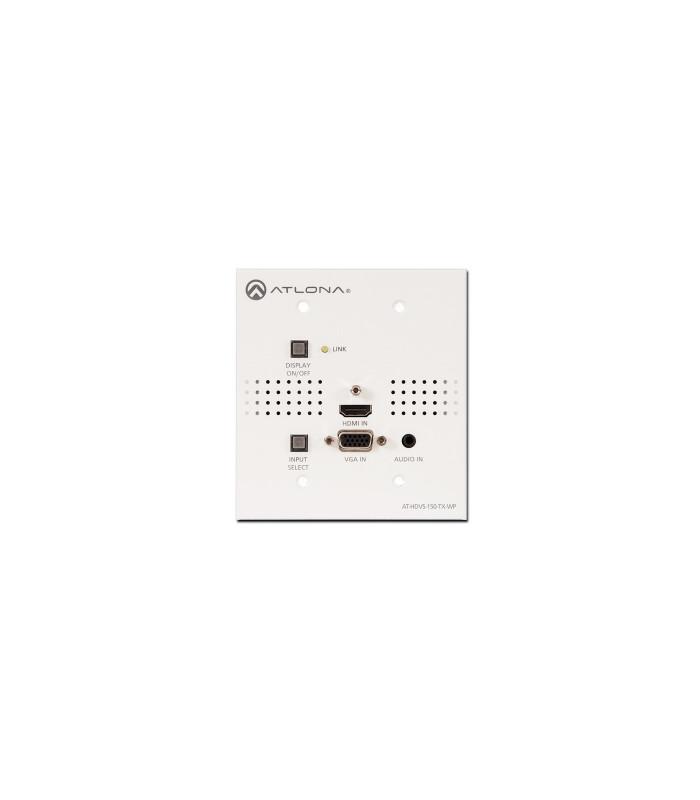 (TX para CLSO-824) Placa de pared Switcher HDMI y VGA/Audio a HDBaseT