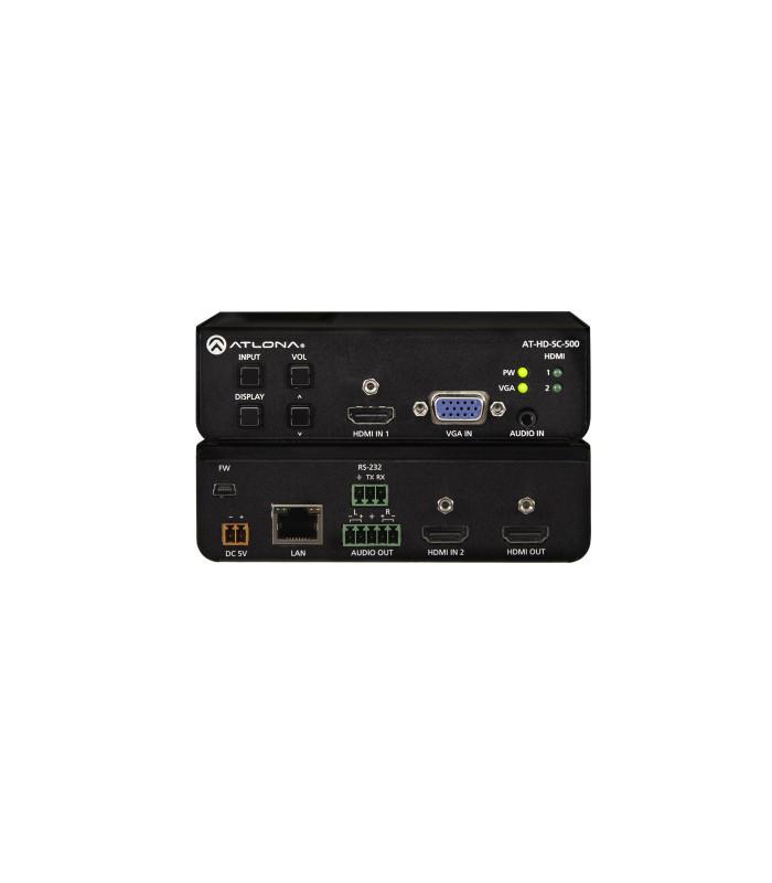 Escalador de 3 entradas para señales HDMI y VGA