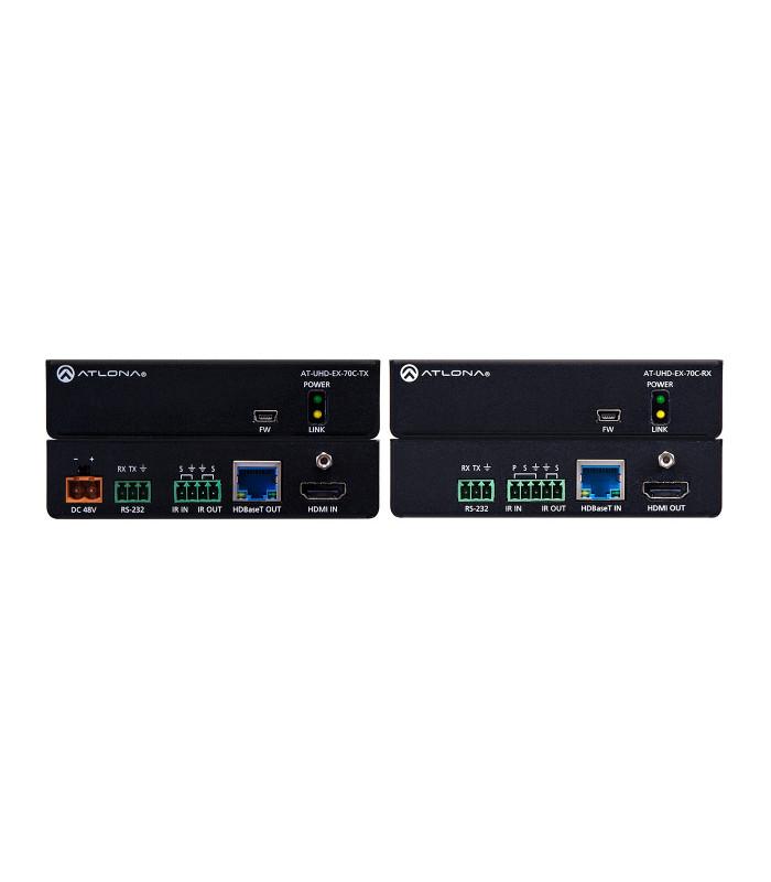 Kit TX/RX HDBaseT (70m) 4K/UHD con IR/Control RS232 y PoE