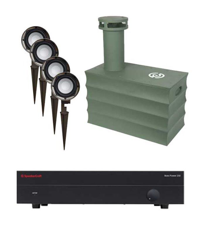 Kit Sistema para Sonido Exteriores con Refuerzo de bajos