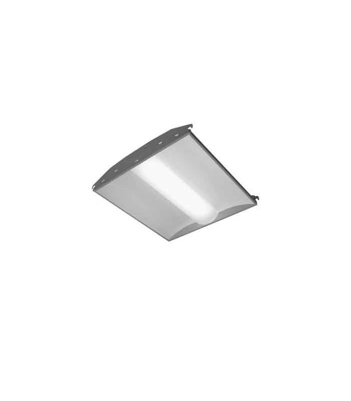 Luminaria volumétrica linear de empotrar para fluorescentes