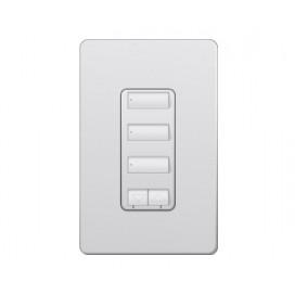 Control de pared 3 botones con R/L y atenuador de 450W Lutron RadioRA2 Colores Satín