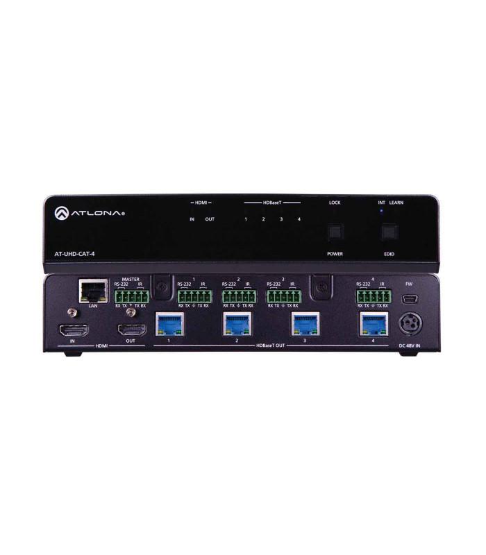 Amplificador de distribución HDMI a HDBaseT 4K/UHD 4-Out