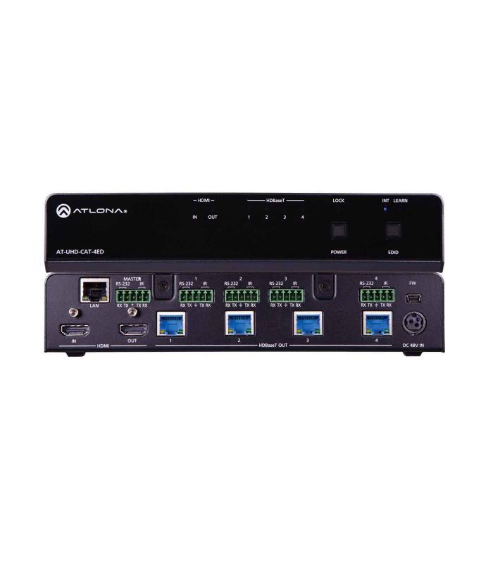 Amplificador de distribución HDMI a HDBaseT 4K/UHD 4-Out Distancia extendida