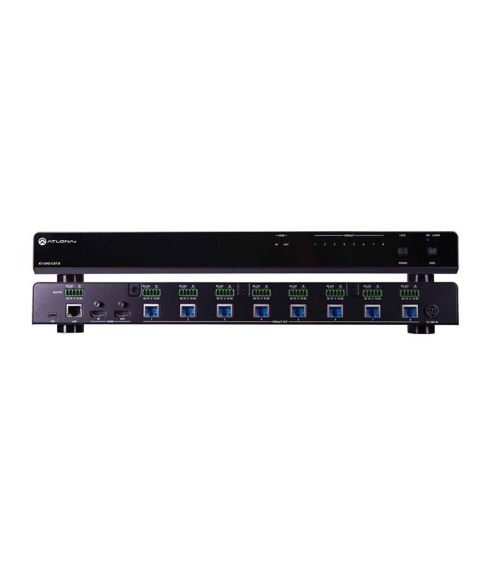 Amplificador de distribución HDMI a HDBaseT 4K/UHD 8-Out