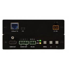 Escalador HDBaseT con HDMI y salidas análogas de audio