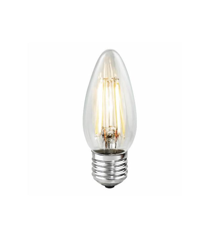 Bombilla LED E26 120V 2700K 360 Lumens,Acabado: Clear