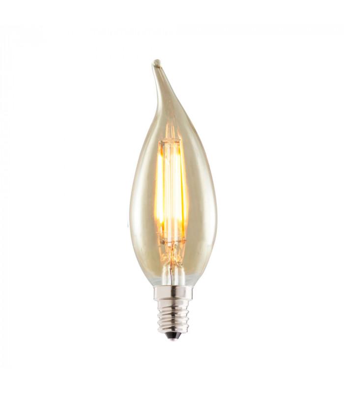 Bombilla LED E12 120V 2200K 160 Lumens,Acabado: Antique