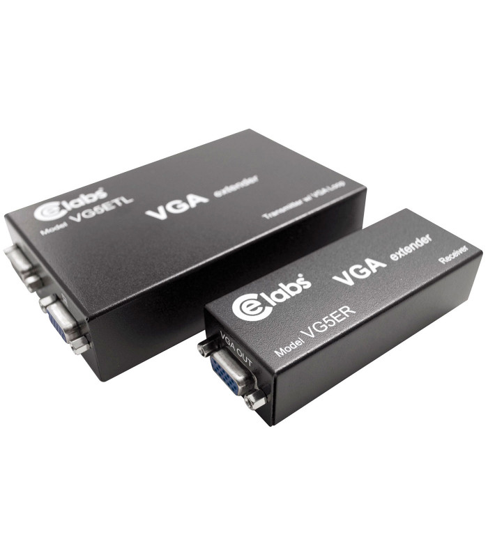 Kit extender VGA X CAT5 (con transmisor y receptor) y LOOP through