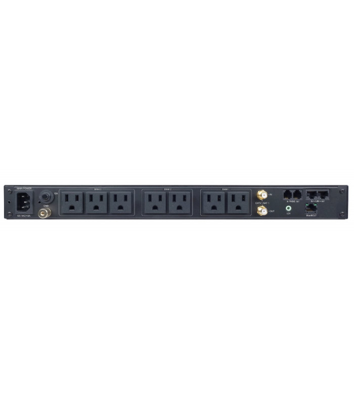 15A BlueBOLT Power Conditioner, 8 Outlets In 3 Controllable Banks, 8Ft Cord
