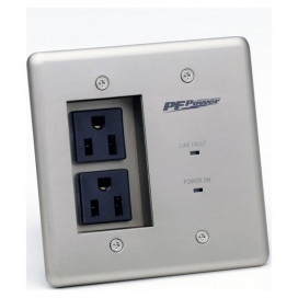 15A In-Wall Power Conditioner, 2 Outlets, W Surge Protection, EVS, EMI/RF Filtration