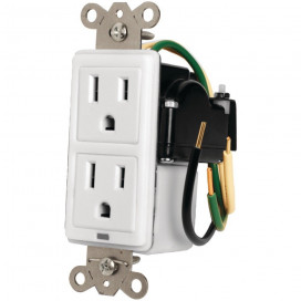 15A In-Wall Duplex, 2 Outlets, W/ Surge Protection